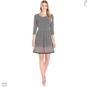 Adorable Pleated 3/4 Sleeve Dress
